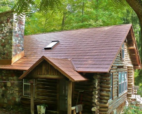 Copper Color Metal Shingles