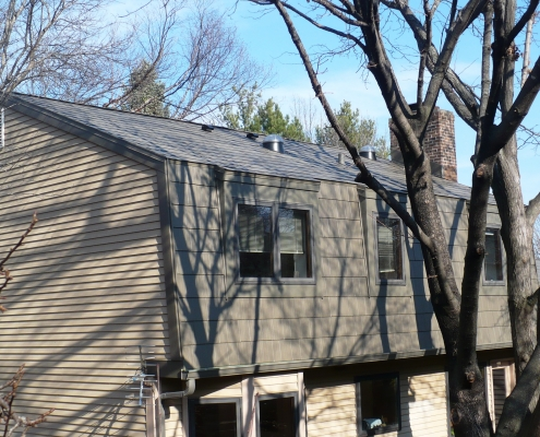 Gambrel Style Metal Shingle Roof
