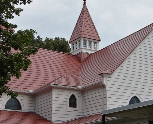 Metal Shingle Church Roof