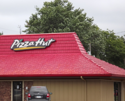 Pizza Hut Metal Shingle Roof