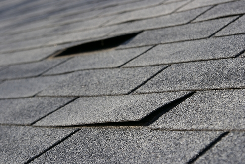 Damaged Asphalt Roof