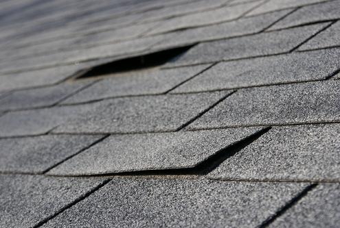 Damaged Asphalt Roof