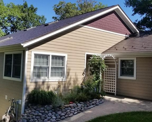 Metal Shingle Roof and New Siding
